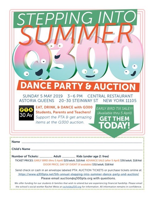 Q300SteppingIntoSummerAuctionTicketFlyer2019