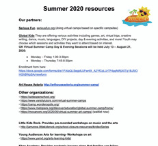 Summer 2020 programs for Q300 students