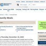 Community meals program over the winter break 2020