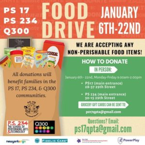 Food Drive 2021 (with PS17 and PS234)