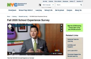 DOE's Fall 2020 School Experience Survey
