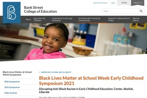 Bank Street College's Anti-Black Racism in Early Childhood Education Symposium 2021