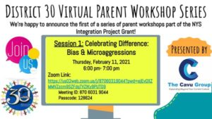 District 30 Virtual Parent Workshop Series 1 (on Feb 11, 2021)