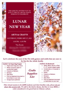 Lunar New Year Arts & Crafts 2021