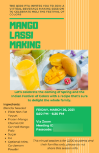 Mango Lassi Making on March 26, 2021