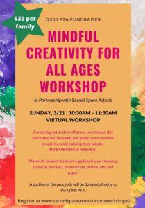Mindful Creativity Workshop with Sacred Space Astoria