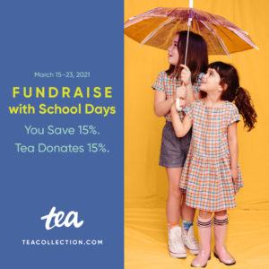 Fundraising with Tea Collection School Days 2021