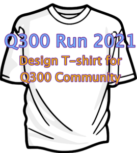 T-Shirt logo design for the Q300 Fun Run 2021