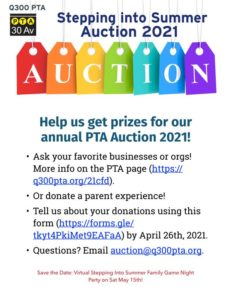 Final Call for Donations for Stepping into Summer Auction 2021